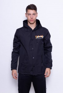 Thrasher Coach Jacket Flame Mag Black