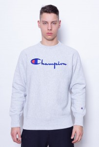 Champion Reverse Weave Embroidered Script Logo Crewneck Grey LOXGM (212576)