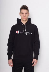 Champion Reverse Weave Embroidered Script Logo Hood Black NBK (212574)